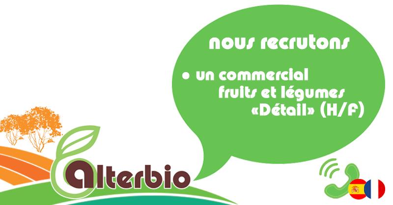 Nous recrutons un Commercial Fruits et Légumes «Détail» (H/F)